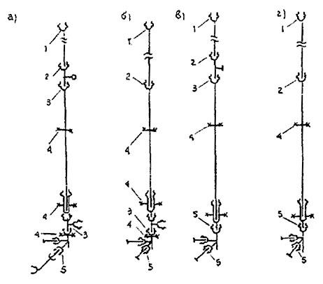 Монтажные схемы (а, б, в,