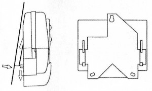 Схема установки крепёжной планки АВЛТ.420.20.90-01 на счётчик