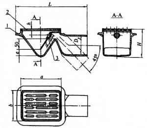 Трап с прямым отводом