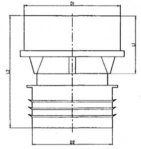 Клапан воздушный полипропиленовый