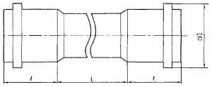Труба двухраструбная