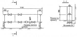 Схема установки водомерного узла