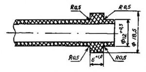 Конструкция полиэтиленовой водопроводной подводки с наплавляемыми буртами