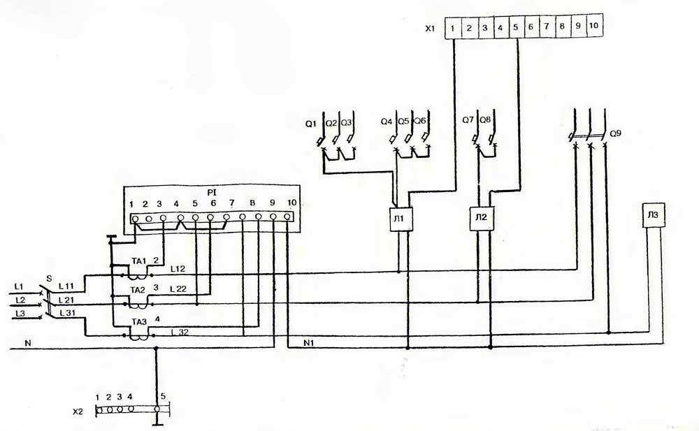 Схема электрическая принципиальная в строительстве.