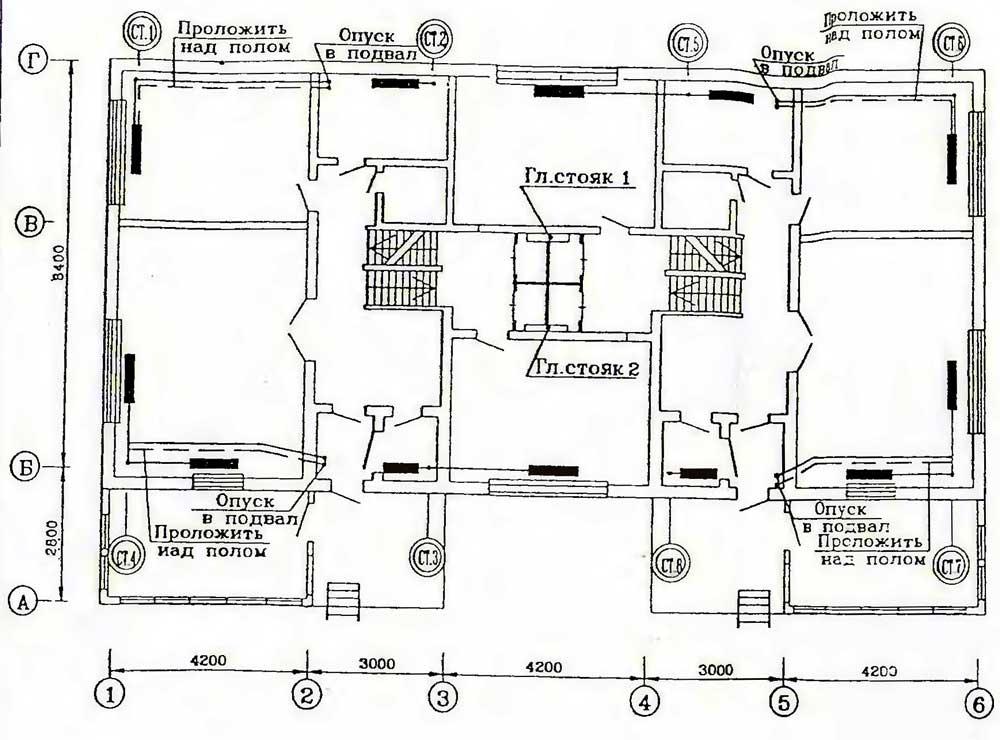 Схема отопления в хрущевках 5 этаж