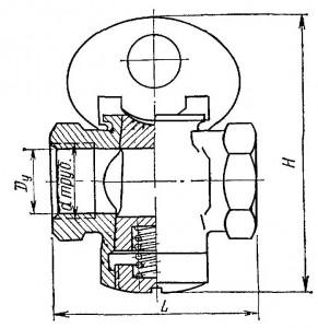 Пробковый проходной кран