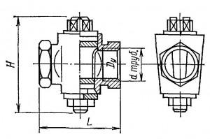 проходной муфтовый натяжной кран