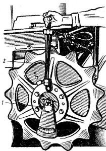 Проверка суммарного бокового зазора в механизмах силовой передачи люфтомером КИ-4813