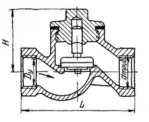 Клапан обратный подъёмный