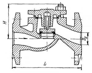 Клапан обратный подъёмный фланцевый