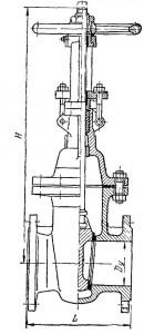 Задвижка клиновая фланцевая стальная с выдвижным шпинделем