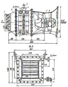 Отопительный подвесной агрегат СТД-100 для теплоносителя воды