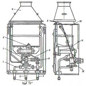 Проточный газовый водонагреватель ВПГ-18