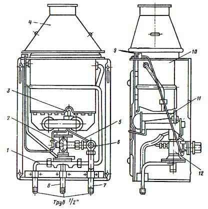 Аппарат водонагревательный проточный газовой бытовой дарина 3010 теплообменник теплообменник bosch 215761