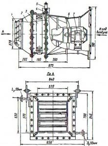 Отопительный подвесной агрегат СТД-100 для теплоносителя пара