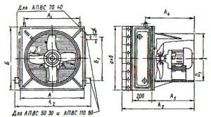 Отопительный подвесной агрегат АПВС