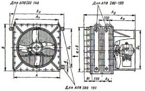Отопительный подвесной агрегат АПВ