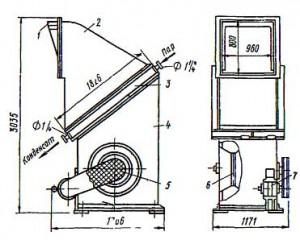 Отопительный  напольный   агрегат  СТД-300М для теплоносителя пара