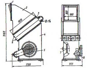 Отопительный   напольный   агрегат СТД 300М для теплоносителя воды