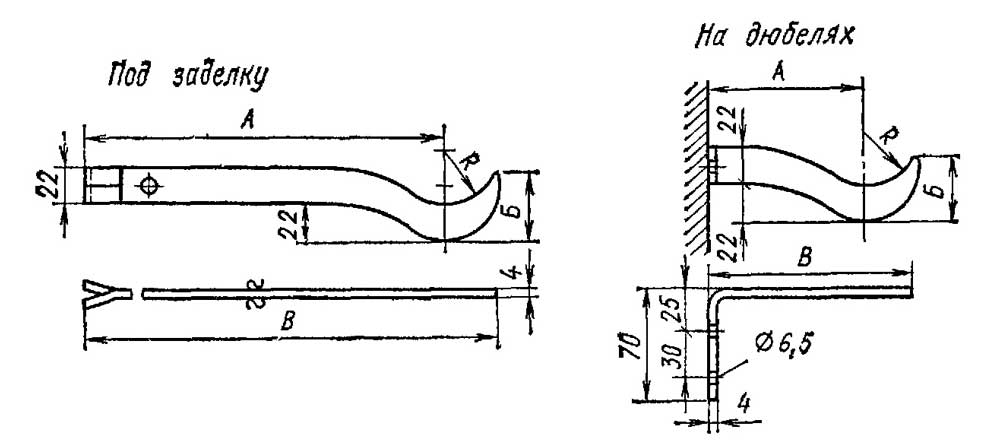 Крепление чугунных радиаторов к полу своими руками 34