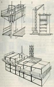 Технология возведения зданий из железобетона.