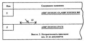 При составлении ИИ на несколько документов в случае несовпадения порядковых номеров изменений общие заголовки с обозначениями документов