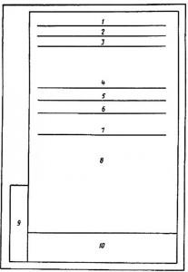 ГОСТ 2.104 - допускается размеры