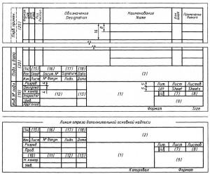 Спецификация и основная надпись