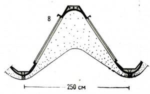 Сборный элемент из армоцемента. Павильон в Турине, 1948 г.