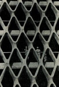 на основе несущих решетчатых стен из сборных железобетонных элементов
