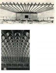 Архитектурное решение формы складочного покрытия на основе сборных элементов