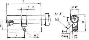 Механизм цилиндровый для врезных замков