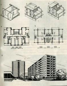 Конструктивные системы и формы бескаркасных панельных зданий