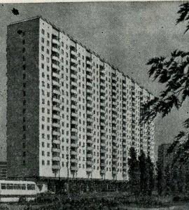 17 – этажный дом из вибропрокатных панелей с поперечными несущими стенами