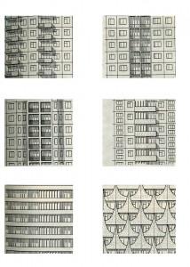Разнообразие форм фасадов панельных зданий определяют функционально-конструктивные элементы: панели стен, ограждения лоджий и эркеров, проёмы
