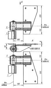 общий вид стальных накладок с навесами