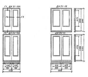 Двери рамочные с качающимися полотнами
