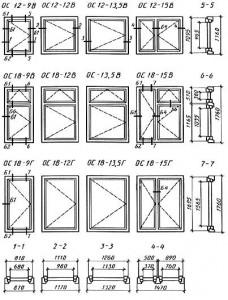 размеры и марки окон и балконных дверей общественных зданий