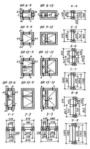 основные размеры и марки окон и балконных дверей жилых зданий