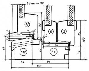 обшивка типа О-2 по ГОСТ 8242; 5 - раскладка