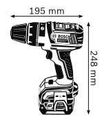 Аккумуляторная ударная дрель-шуруповёрт 14,4 В GSB 14,4 V-LI Professional
