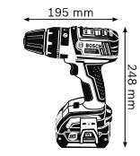 Аккумуляторная ударная дрель-шуруповёрт 18 В GSB 18 V-LI Professional