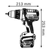 Аккумуляторная дрель-шуруповёрт 14,4 В  GSR 14,4 VE-2-LI Professional Габаритные размеры