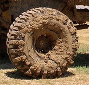 грязные колёса