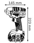 Габариты, Аккумуляторный ударный гайковёрт 18 В с аккумулятором Compact GDR 18 V-LI Professional