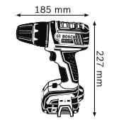 Габариты Аккумуляторная дрель-шуруповёрт с аккумулятором Compact 14,4 В GSR 14,4 V-LI Professional