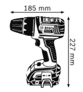 Габариты Аккумуляторная дрель-шуруповёрт с аккумулятором Compact 18 В GSR 18 V-LI Professional