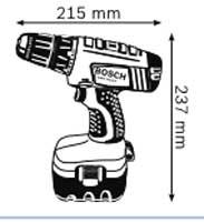 Габариты,Аккумуляторная дрель-шуруповёрт 14,4 В GSR 14,4 V Professional