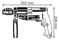 Габариты, Дрель GBM 13-2 RE Professional