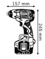 Габариты, Аккумуляторный ударный гайковёрт 14,4 В GDR 14,4 V Professional